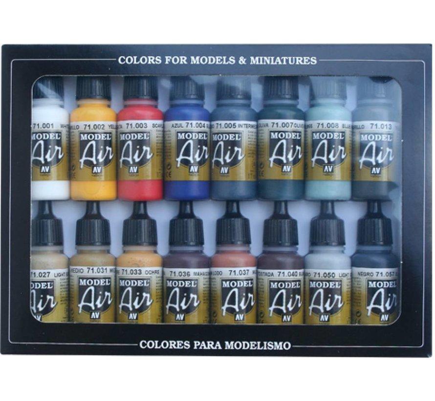 Model Air Basic Color Set - 16 kleuren - 17ml - 71178
