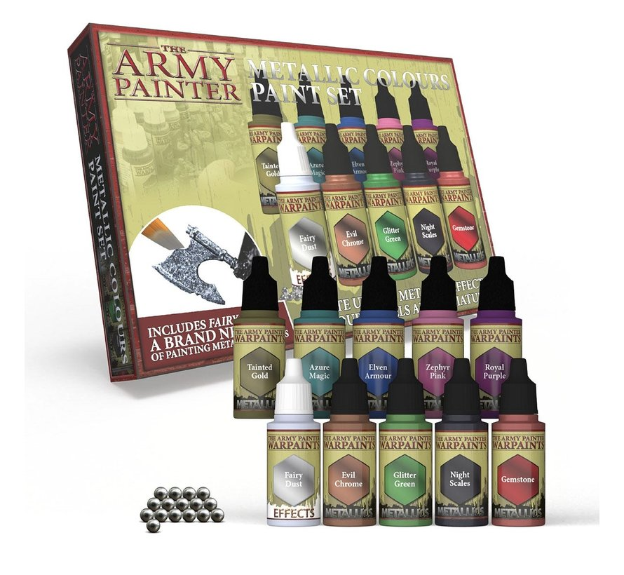 The Army Painter Warpaints Metallic Colours Paint Set - 9 kleuren - 18ml - WP8048