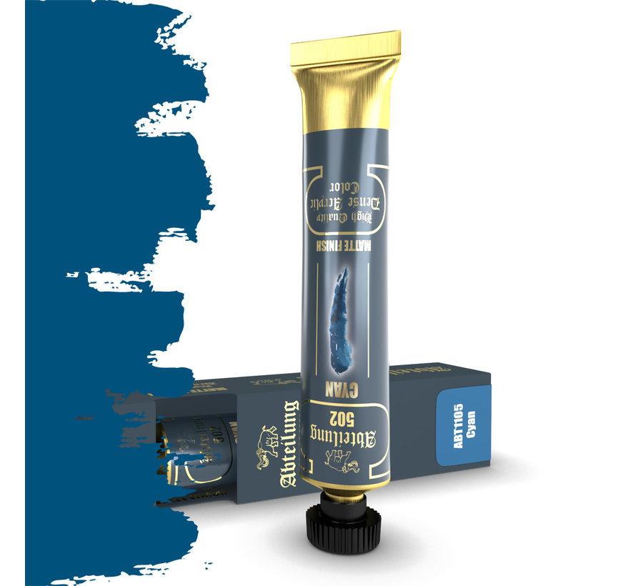 Abteilung 502 Cyan High Quality Dense Acrylics Colors - 20ml - ABT1105