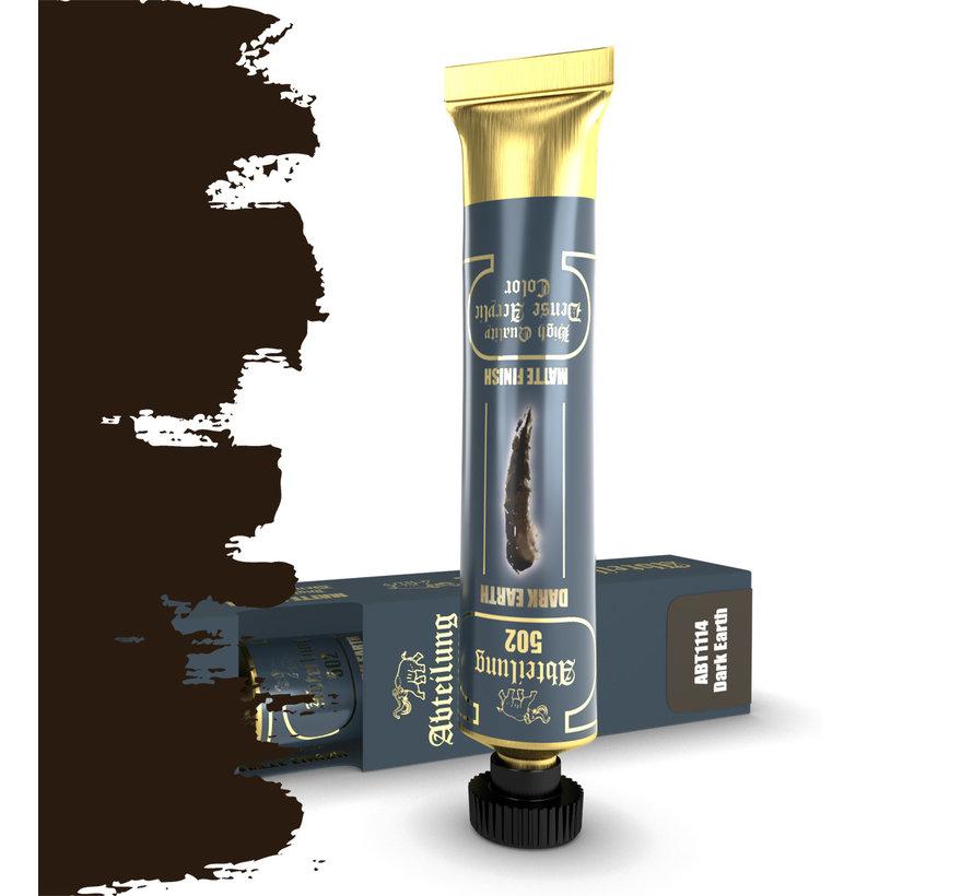 Abteilung 502 Dark Earth High Quality Dense Acrylics Colors - 20ml - ABT1114