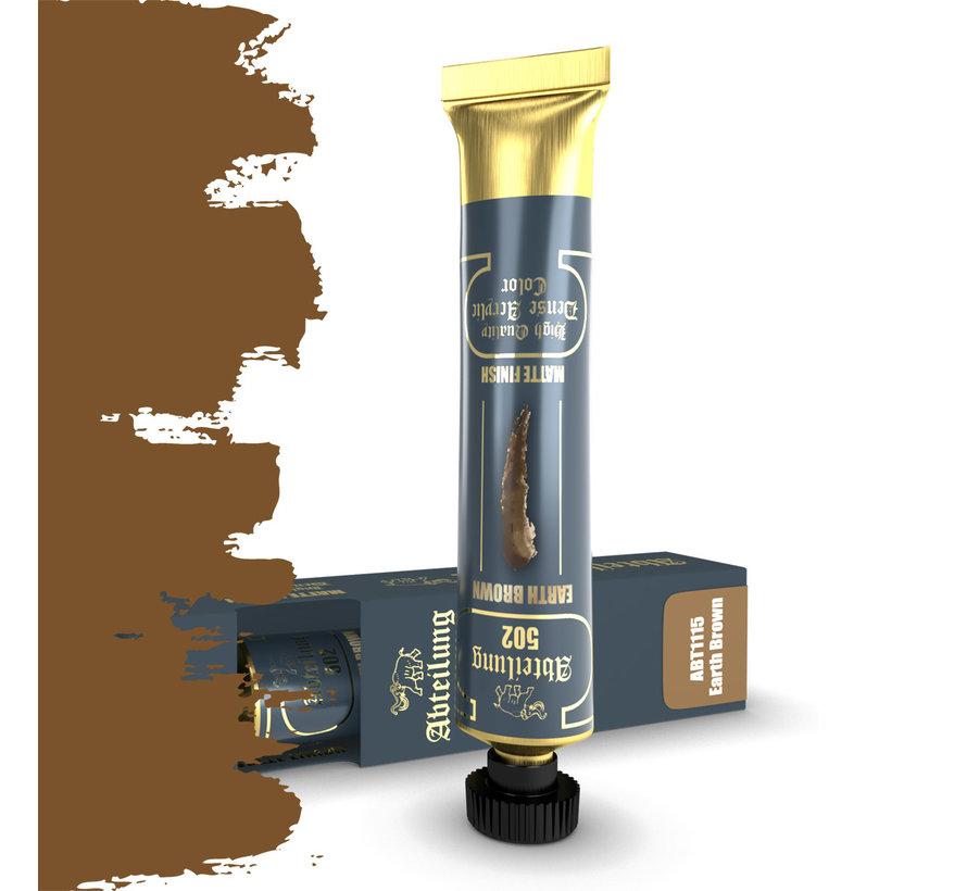 Abteilung 502 Earth Brown High Quality Dense Acrylics Colors - 20ml - ABT1115