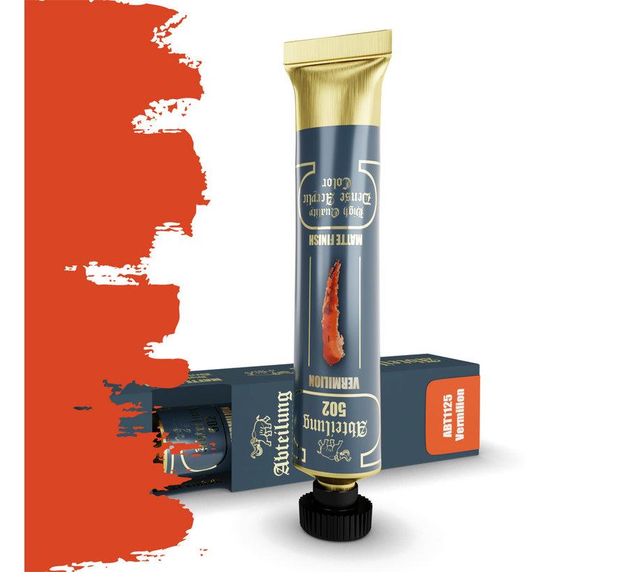 Abteilung 502 Vermilion High Quality Dense Acrylics Colors - 20ml - ABT1125