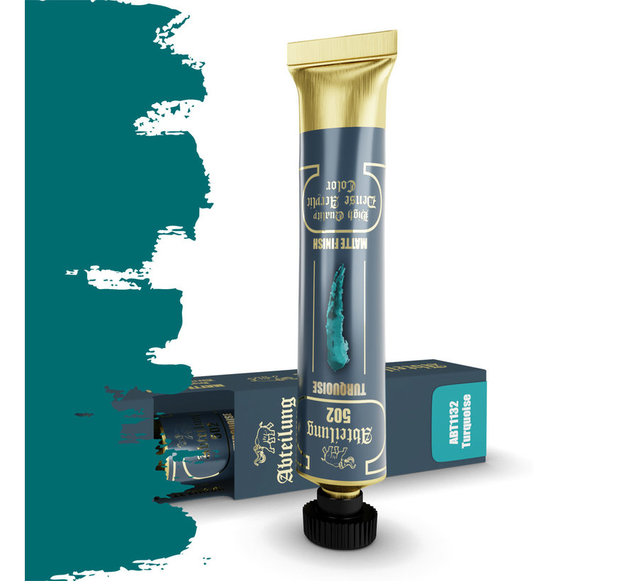 Abteilung 502 Turquoise High Quality Dense Acrylics Colors - 20ml - ABT1132