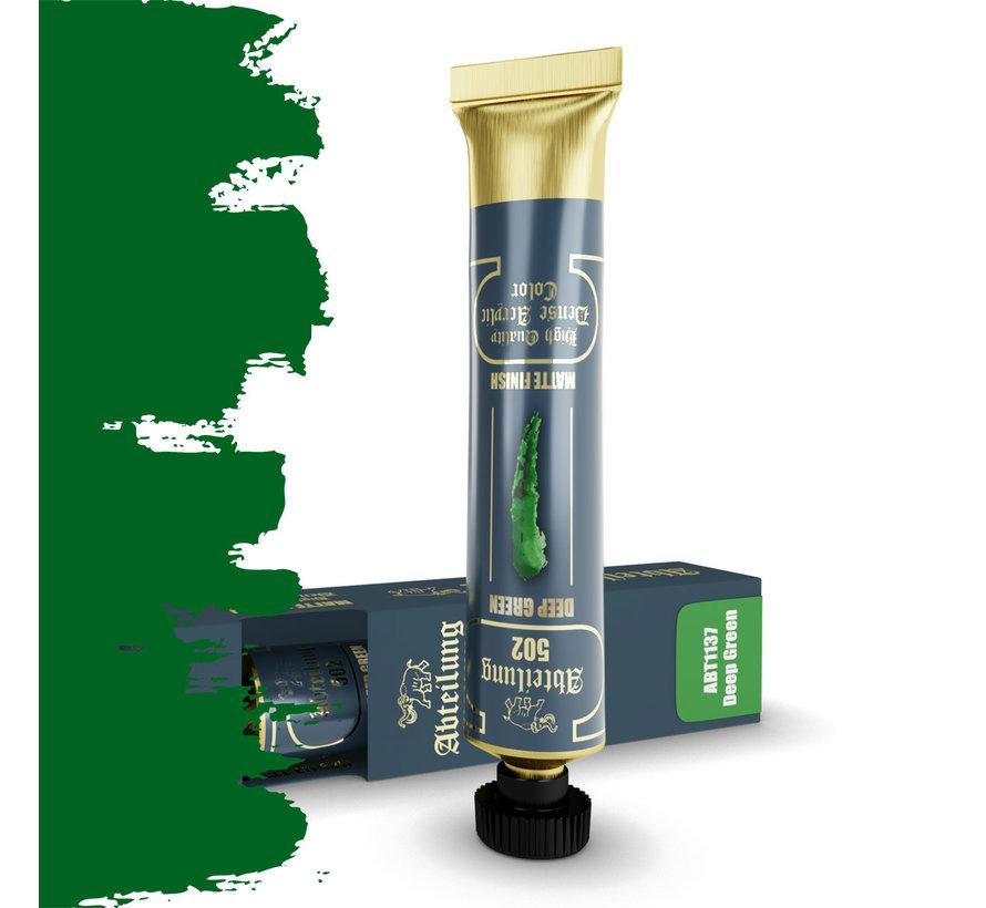 Abteilung 502 Deep Green High Quality Dense Acrylics Colors - 20ml - ABT1137