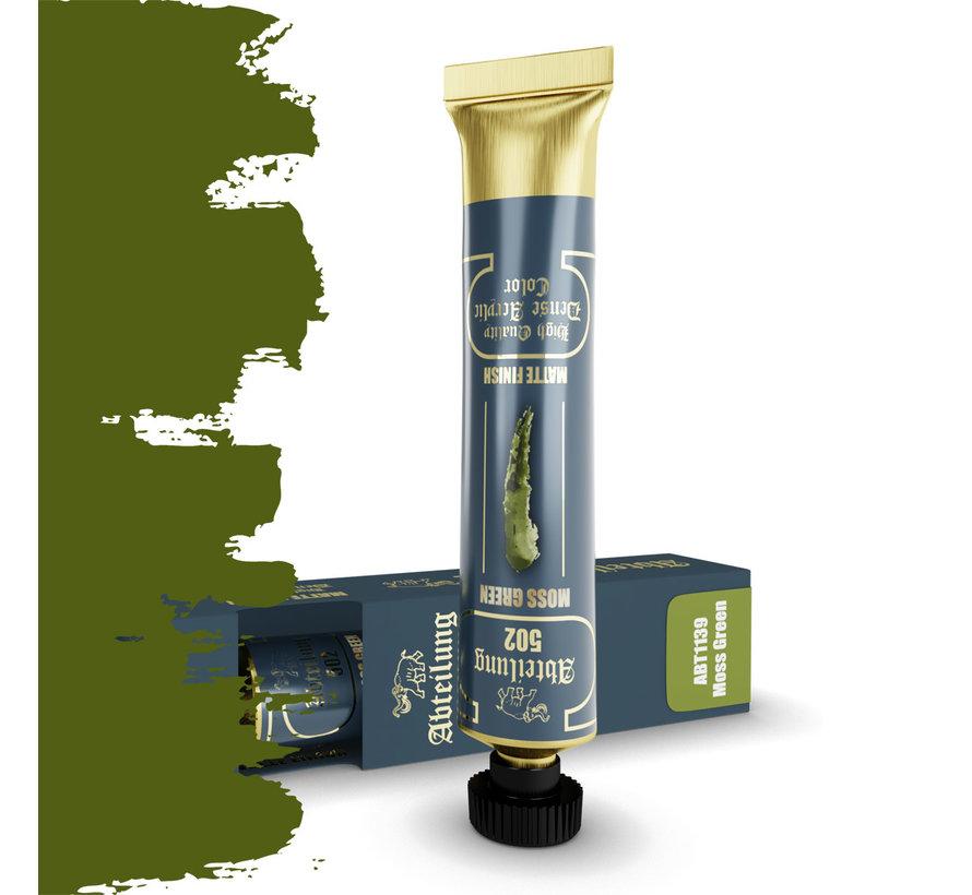 Abteilung 502 Moss Green High Quality Dense Acrylics Colors - 20ml - ABT1139
