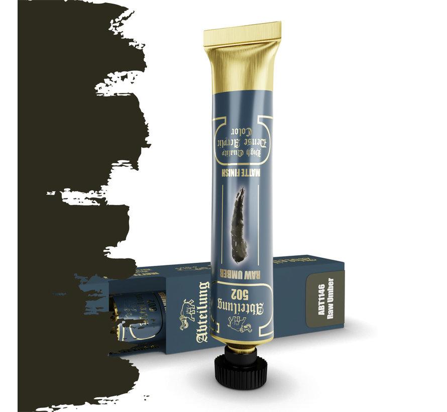 Abteilung 502 Raw Umber High Quality Dense Acrylics Colors - 20ml - ABT1146