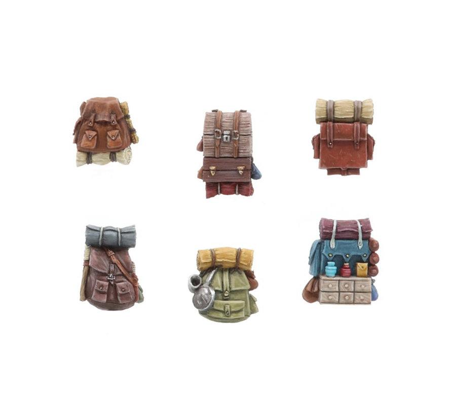 Tabletop-Art Adventurer backpacks Set 1 - 6x - TTA601107