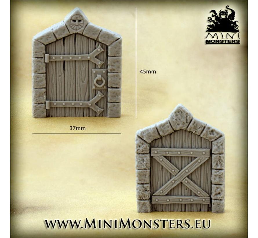 Mini Monsters Dwarven Doors Set 1 - 2x - MM-0109