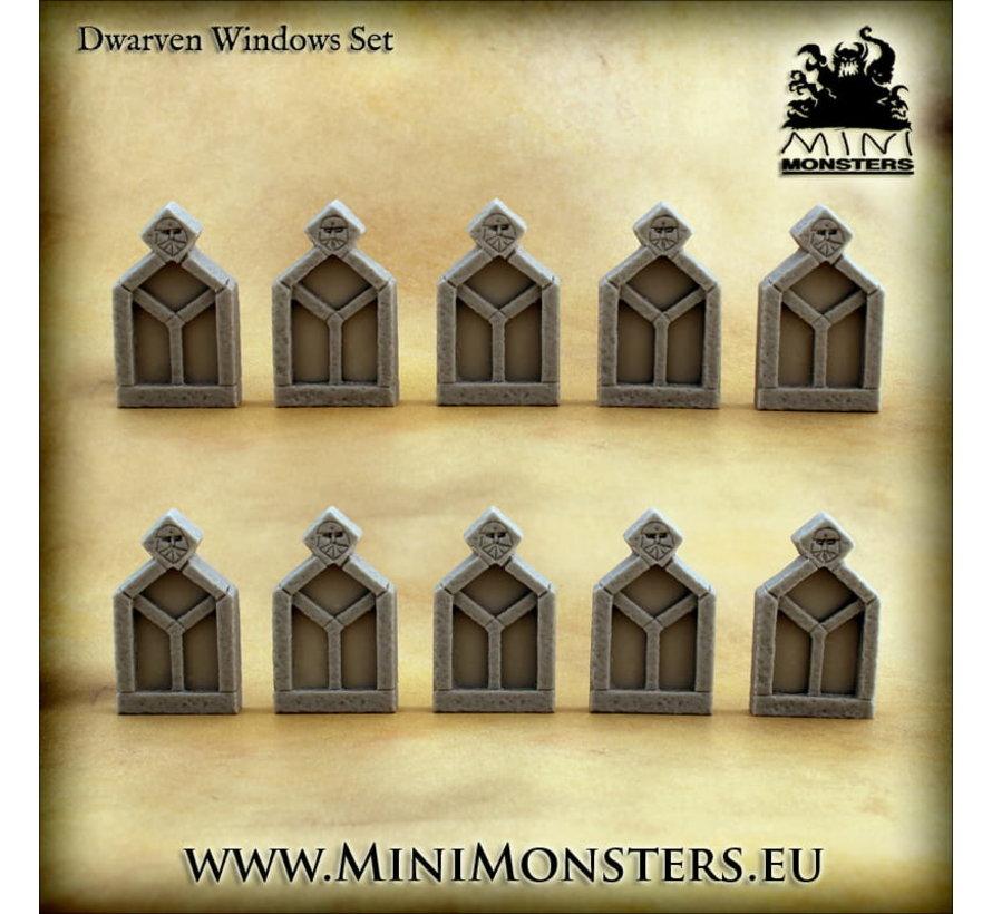 Mini Monsters Dwarven Windows Set 1 - 10x - MM-0111