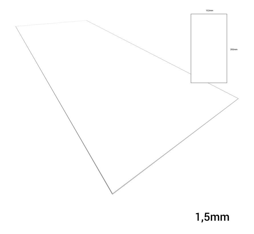 Evergreen Plasticard White - 1,5mm - 152x292mm - 1x - 9060