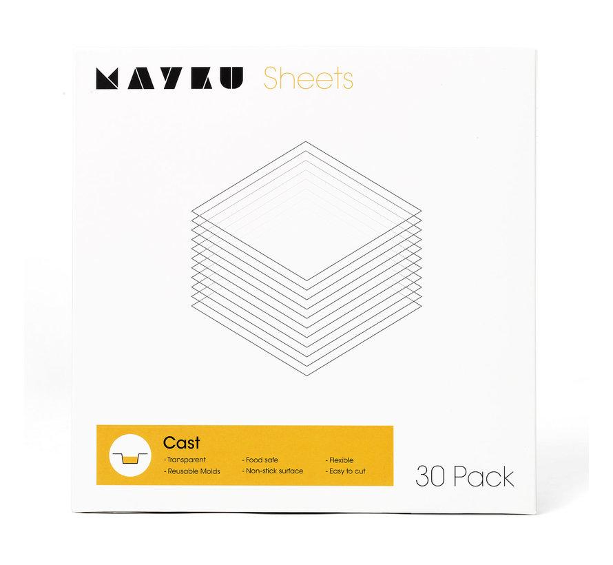 Mayku Cast Sheets - 0,5mm - 30x - MCA180100AA