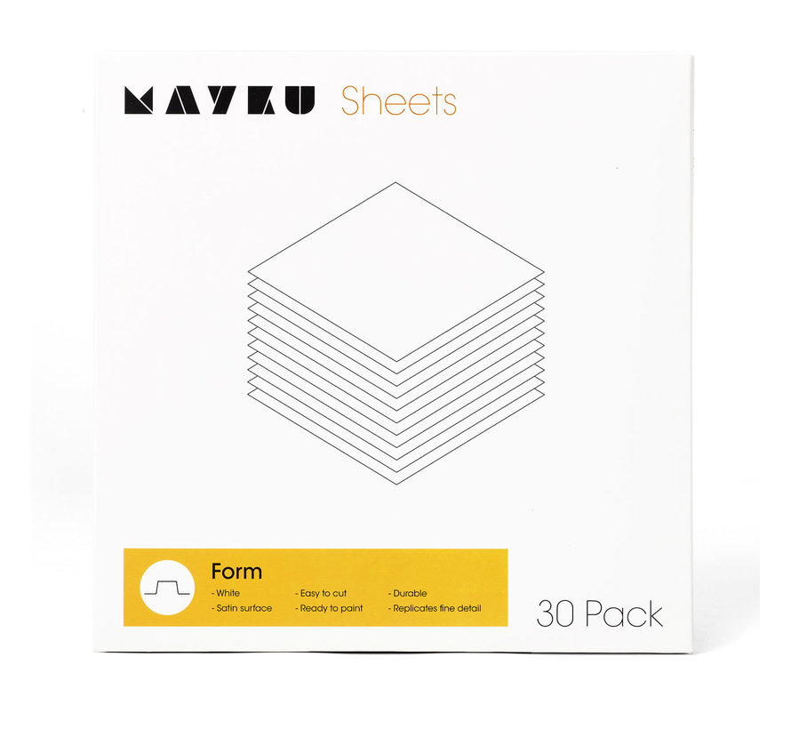 Mayku Form Sheets - 30x - MFA180100AA