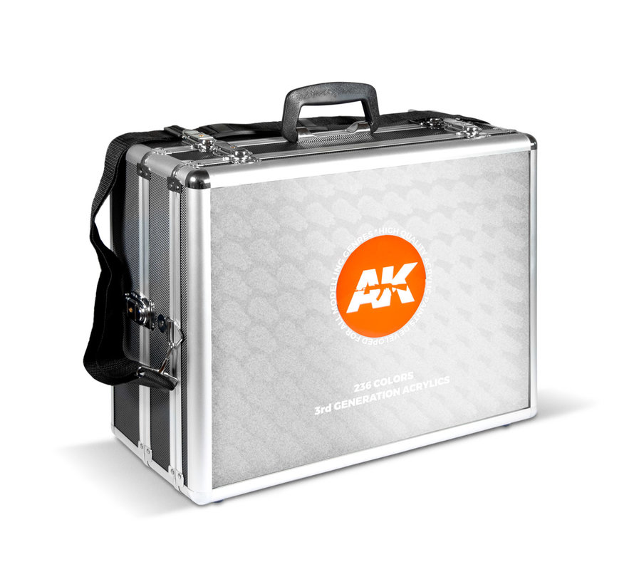 AK interactive Limited Edition Briefcase Acylic Modelling Colors - 236 kleuren - 17ml - AK11701