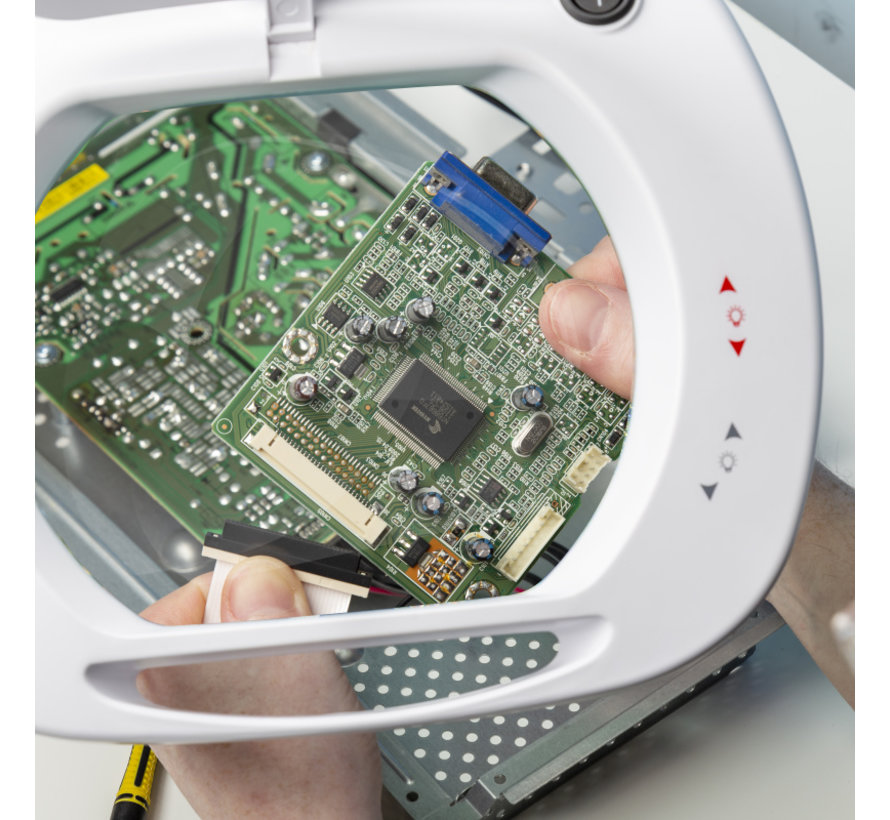LightCraft Wide Lens LED Magnifier Lamp - LC9100LED