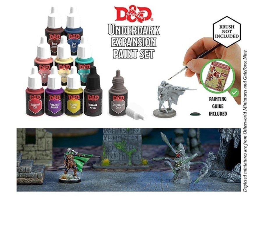 The Army Painter D&D Nolzur's Marvelous Pigments Underdark Paint Set - 10 kleuren - 12ml - 75004