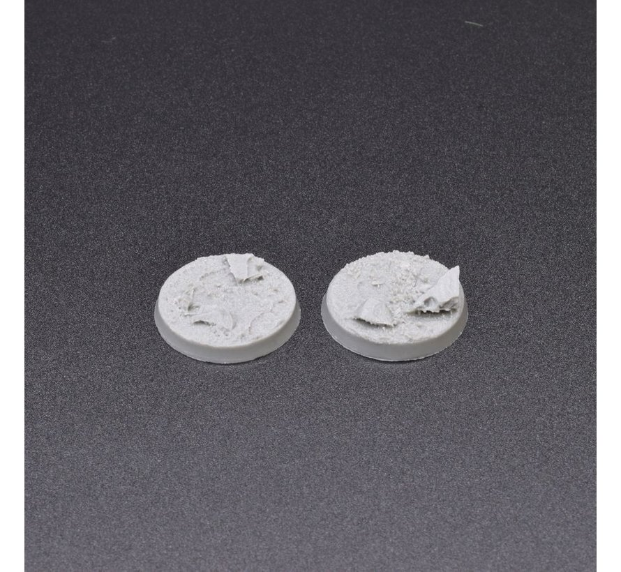 Gamers Grass Rocky Fields Resin Bases Round 25mm - 10x - GGRB-RFR25