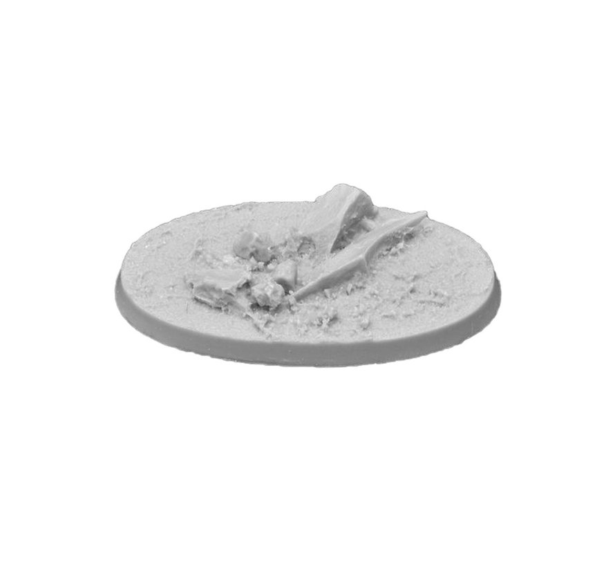 Gamers Grass Rocky Fields Resin Bases Oval 60mm - 4x - GGRB-RFO60