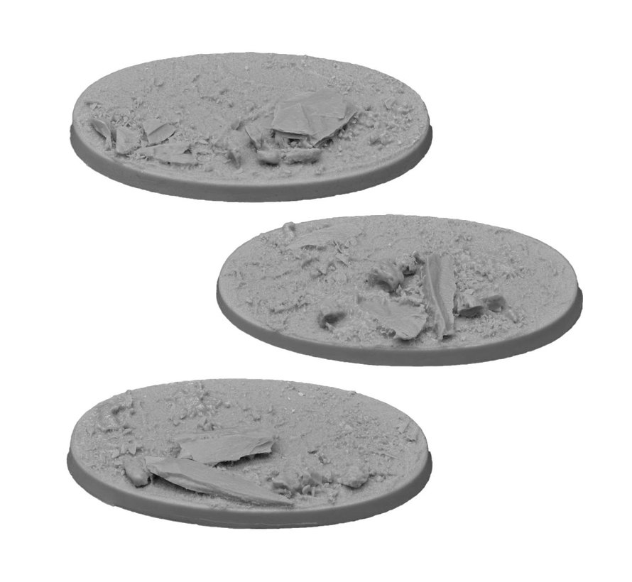 Gamers Grass Rocky Fields Resin Bases Oval 75mm - 3x - GGRB-RFO75