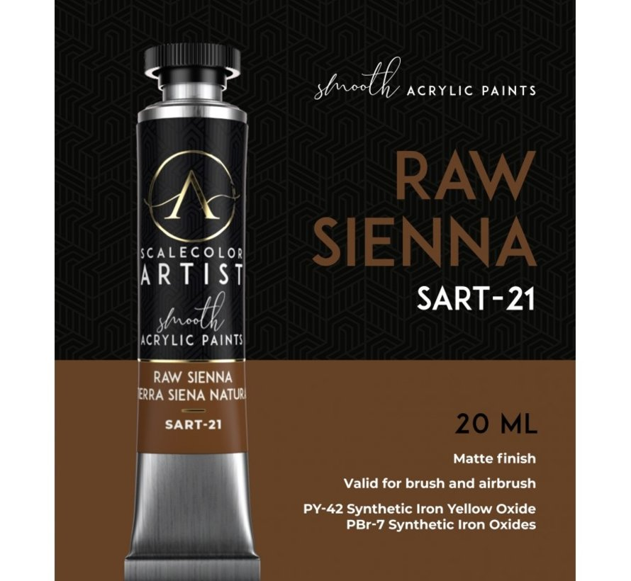 Scale 75 Raw Sienna Scalecolor Artist - 20ml - SART-21