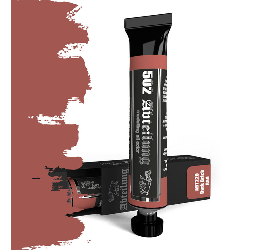 Abteilung 502 Dark Brick Red Modeling Oil Color - 20 ml - ABT220