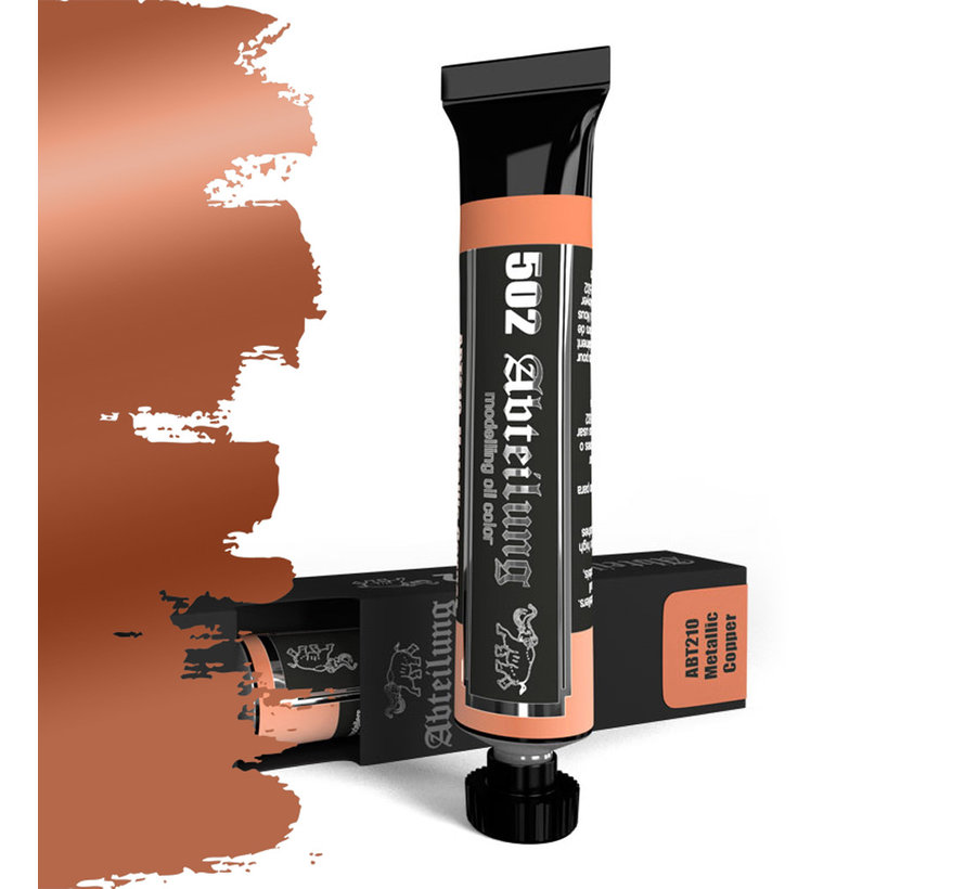 Abteilung 502 Metalic Copper Modeling Oil Color - 20ml - ABT210