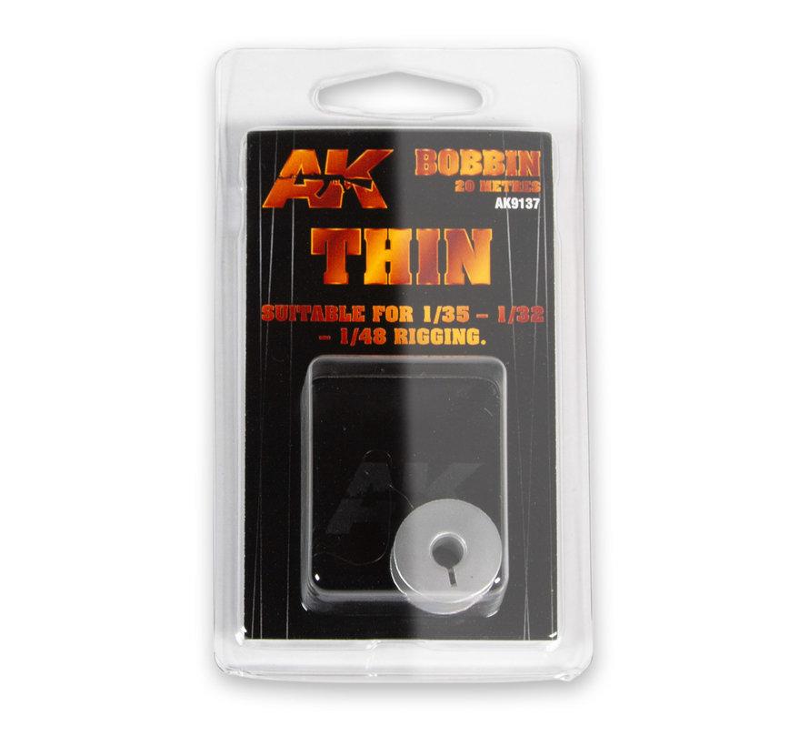 AK interactive Elastic Rigging Bobbin Thin - 20m - AK9137