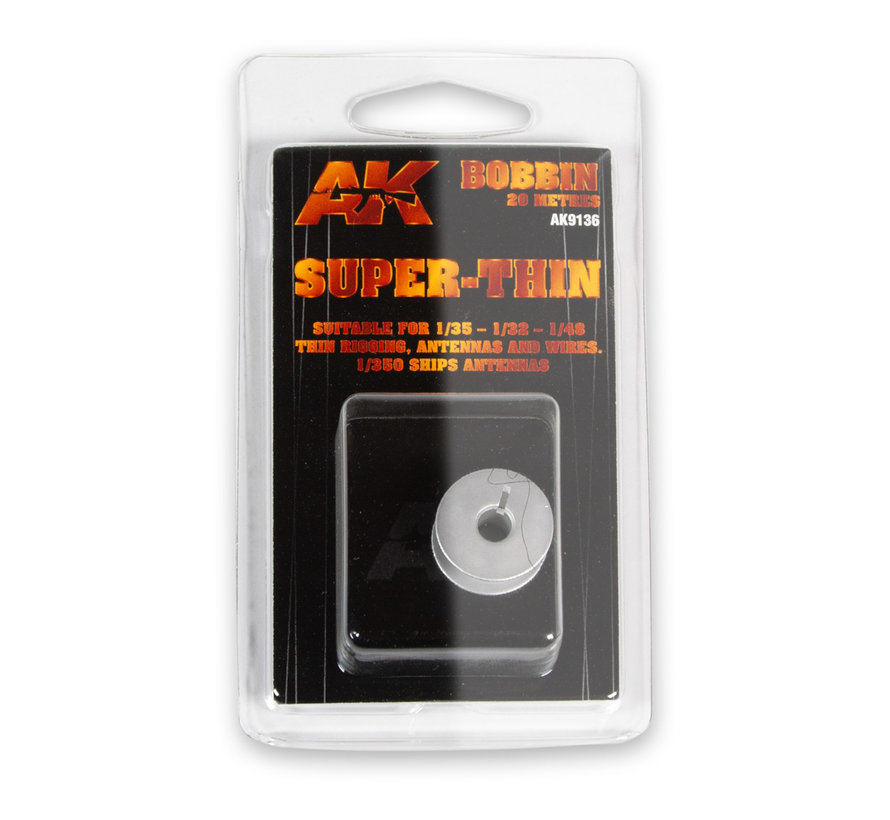 AK interactive Elastic Rigging Bobbin Super-Thin - 20m - AK9136