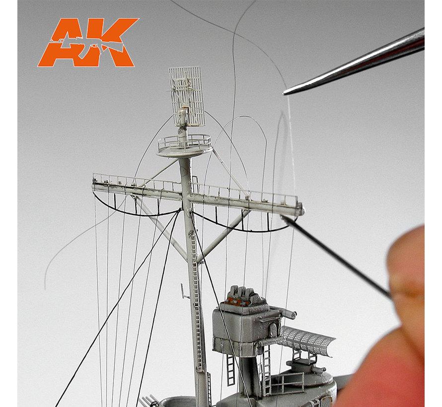 AK interactive Elastic Rigging Bobbin Mega-Thin - 20m - AK9134