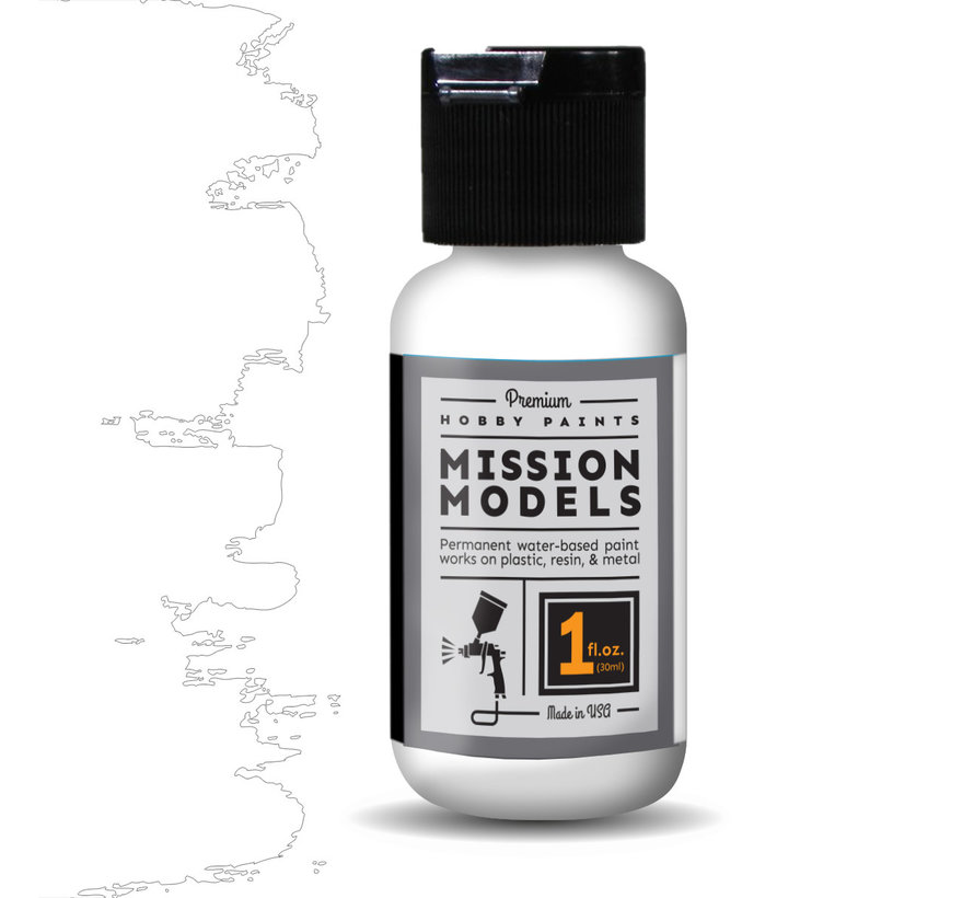 Mission Models White - Acrylic Airbrush Paint - 30ml - MMP-001