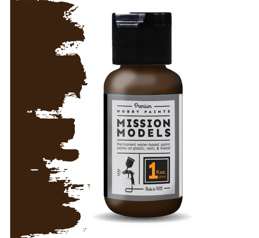 Mission Models Brown - Acrylic Airbrush Paint - 30ml - MMP-002