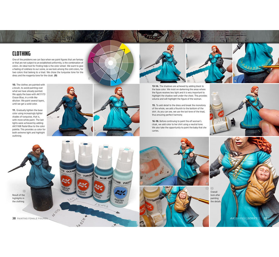 AK interactive Painting Female Figures - AK Learning Series nr 12 - 96pag - AK520