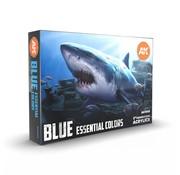 AK interactive Blue Essential Colors - 6 kleuren - 17ml - AK11618
