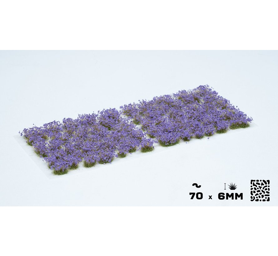 Gamers Grass Violet Flowers Wild Tuft 6mm - GGF-VI