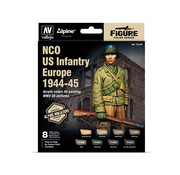 Vallejo Model Color Alpine NCO US Infantry Europe 1944-45 - 8 kleuren - 17ml - 70244
