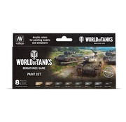 Vallejo World of Tanks Miniatures Game Paint Set - 8 kleuren - 17ml - 70245