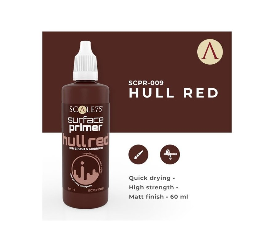 Surface Primer Hull Red - 60ml - SCPR-009