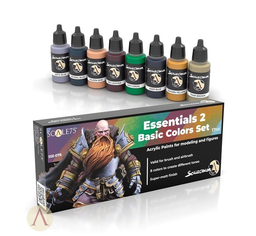 Essentials 2 Basic Colors Set - 8 kleuren - 17ml - SSE-076
