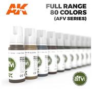 AK interactive AFV Series Full Range 3e Generatie - 80 kleuren - 17ml - AK 3G RANGE AFV