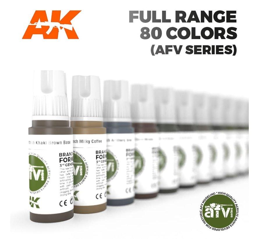 AFV Series Full Range 3e Generatie - 80 kleuren - 17ml - AK 3G RANGE AFV