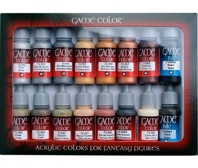 Vallejo Game Color Set Leather and Metal - 16 kleuren - 17ml - 72291