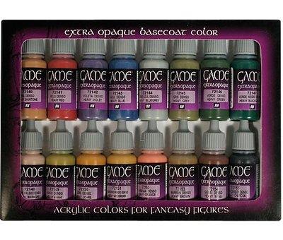 Vallejo Game Color Extra Opaque Set - 16 kleuren - 17ml - 72290