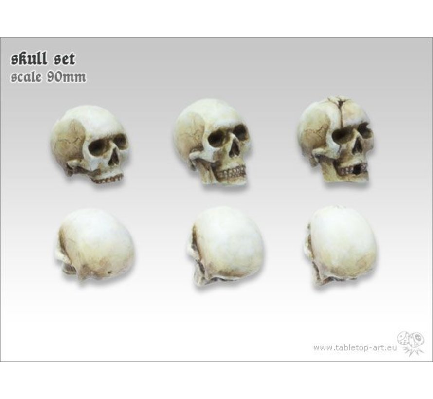 Skull Set 90mm - 6x - TTA600032