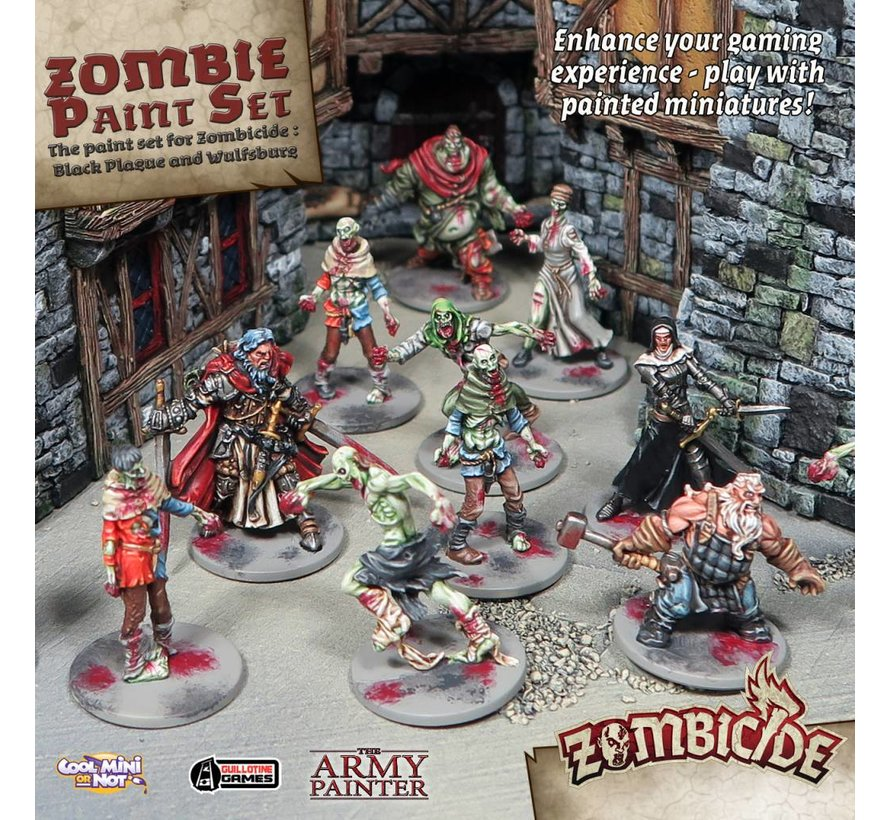Warpaints Zombicide Black Plague Set - 10 kleuren - 17 ml - WP8012