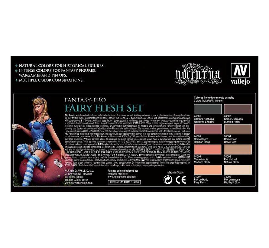 Fantasy-Pro Fairy Flesh Set - 8 kleuren - 17ml - 74101