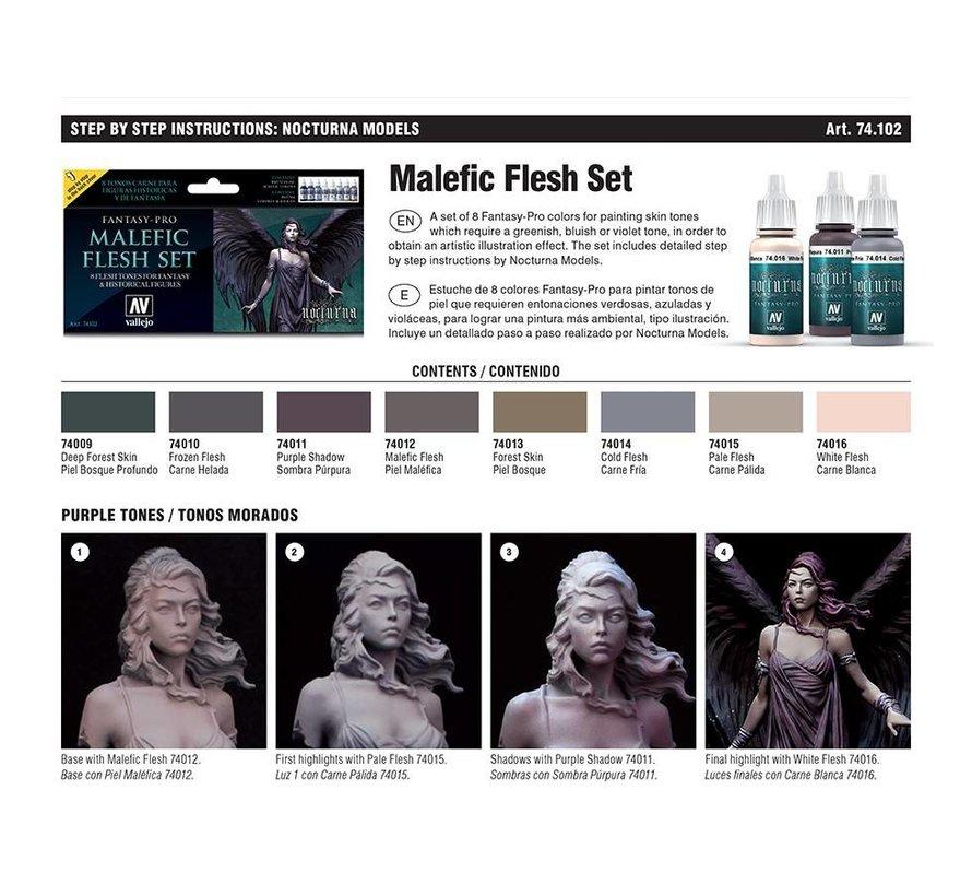 Fantasy-Pro Malefic Flesh Set - 8 kleuren - 17ml - 74102