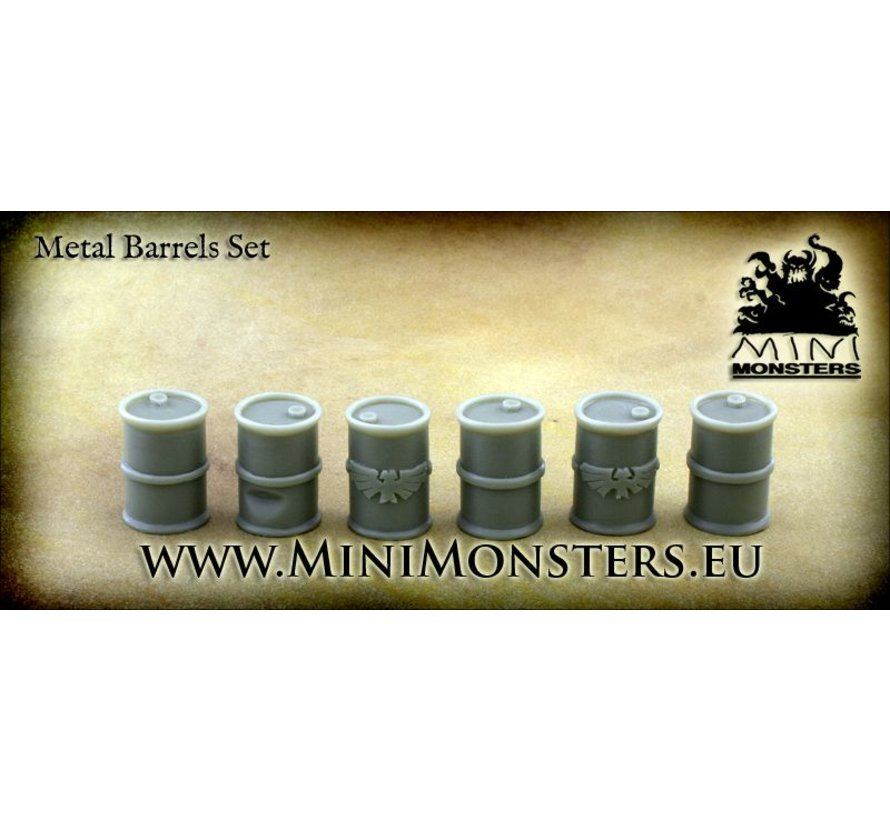 Metal Barrels - 6x - MM-0031