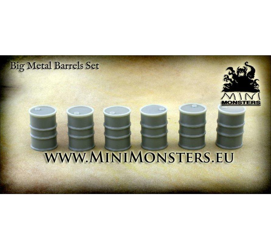 Big Metal Barrels - 6 stuks - MM-12