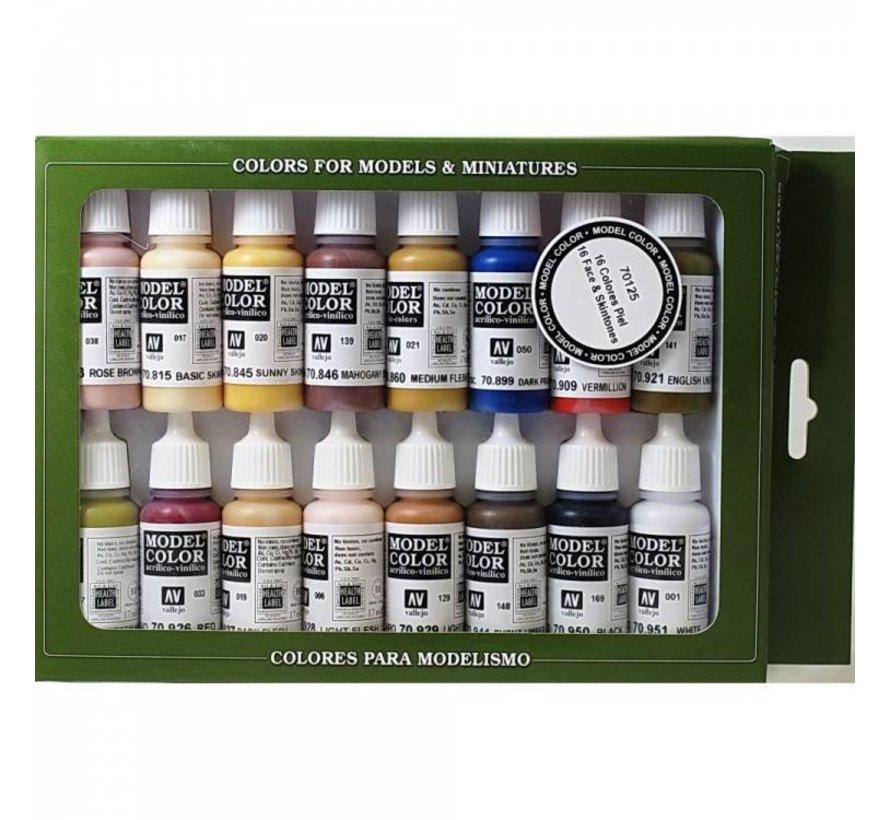 Model Color Set Face & Skintones - 16 kleuren - 17ml - 70125