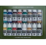 Vallejo Model Color Set Medieval Colors - 16 kleuren - 17ml - 70142