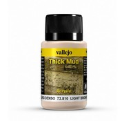 Vallejo Light Brown Mud Thick Mud Weathering Effects - 40ml - 73810
